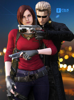 Claire and Wesker - Photopose by FranAlcantara