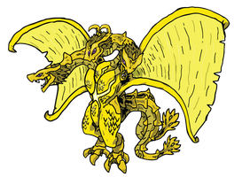 Kaiju Database - Ghidorah by absoluteweapon