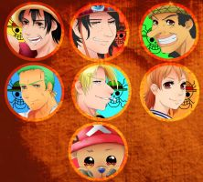 One Piece Buttons by Leefuu