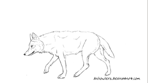 Free lineart: Canine by dahowlers