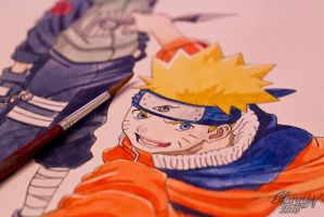 Naruto in the making by hannord