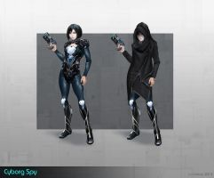 Concept of Cyborg Spy by Keleus
