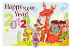 Japanese New Year's card 2012 by piyo119