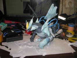 Black kyurem papercraft by Zimberdum