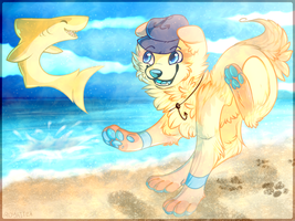Playing In the Sand by RoyaITea