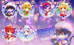 FREE! Arabian Dream 45mm Buttons by irisieren