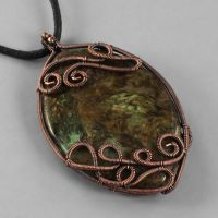 Copper and Snakeskin Jasper by sylva