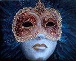 Unmasked - acrylic painting by Giselle-M