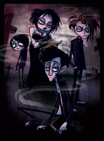 The Goth Kids by DollCreep
