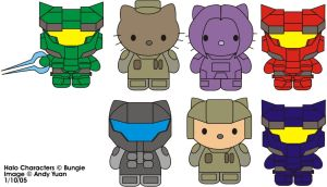 Halo Kitties by c-force