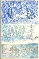Hansel and Gretel BG sketches by Sandora