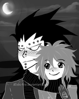 Gajeel x Levy-Sharing Scarves by acidic-fire