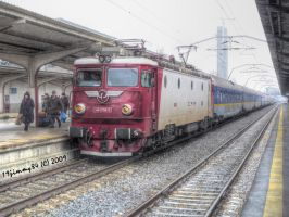 Train in Bucharest North... by Iulian-dA-gallery