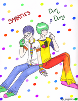 Smarties and DumDums-Human by yuuyami-artist