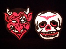 Vintage Halloween Masks! by XBlackFerretX