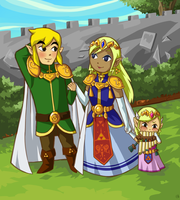 TeLink royalty, and little Zelda by Amandinde
