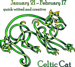 Celtic Cat Zodiac by KnotYourWorld