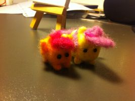 Needle Felted Box Ponies - WIP by anonymousnekodos