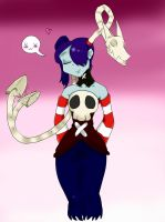 Skullgirls Squigly and Leviatan by MizukiPyun