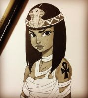 Inktober Cleopatra by chrissie-zullo