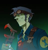 TF2  bloodengineer blue by biggreenpepper