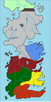 Rough Political Map of Westeros by lamnay