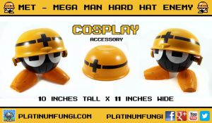 Met - Mega Man hard hat enemy cosplay accessory by Platinumfungi