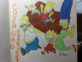 The simpsons:Couch gag forever! by komi114