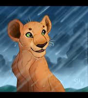 Rainy Day - Nala by EmilyJayOwens