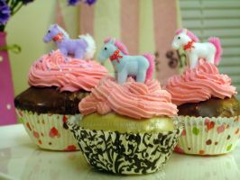 Unicorn Faux Cupcakes by abarra01