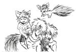 Kid, Dark, and the Fox Cubs by nekozikasilver1