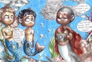Hannibal mermaid AU - Our dear mother by FuriarossaAndMimma
