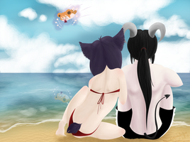 Day at the Beach by paniqueatthehart