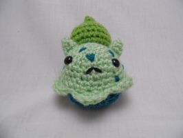 Crochet Bulbasaur Cupcake by FullMetalAshley