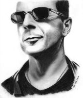 Bruce Willis pencil portrait by Skylark6277
