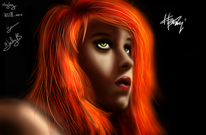 PaintTest:  Hayley Williams by wLadyB91