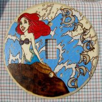 Ariel custom LightSwitch Plate by laurapalmerwashere