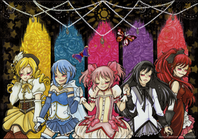 Puella Magi Madoka Magica ~ Cosmic Love by tea-bug