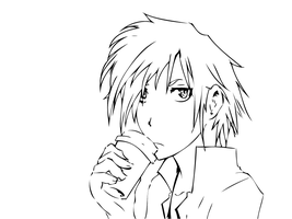 -Coffee with Zexy- +lineart by UchihaHitomi