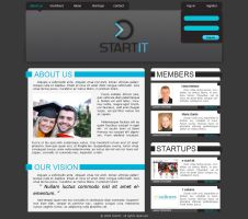 StartIt web layout concept by prigix