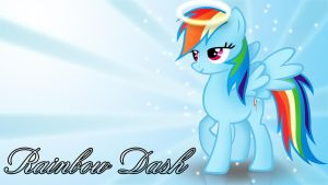 Angel Rainbow Dash wallpaper by ALoopyDuck