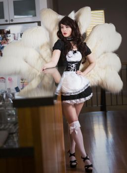 French Maid Ahri by BlondieeGaming