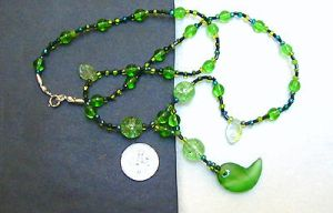 spring-leaf magatama necklace by wombat1138