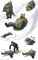 Sledding Flop by Katmomma