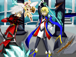BlazBlue CS2 Triple Battle by Emblem-Mech