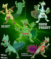 Sceptile Variations by OrialRegion