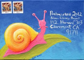 Postmarked 2012 No3 Snail Mail by tursiart