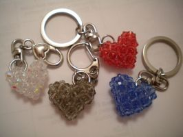 Crystal heart key chain by fingirl
