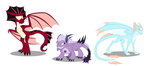 Meet the Crystal Dragons by 9CentsChange