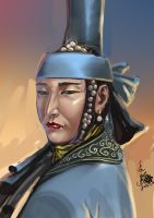 Medieval Mongol Lady by HappyMorningStar